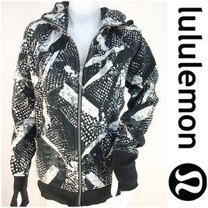Lululemon Black & White Zip Up Hoodie